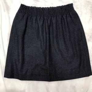 J Crew Navy Wool Skirt sz two with pockets